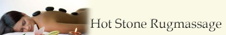 Hot stone rugmassage banner