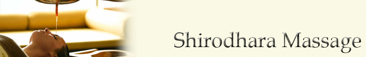 Shirodhara Massage banner